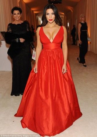 Kim Kardashian wearing Celia Kritharioti