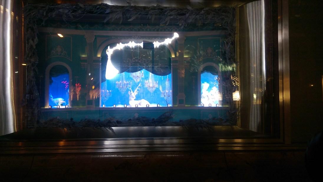 Tiffany & Co. 5th Avenue Christmas Display at night