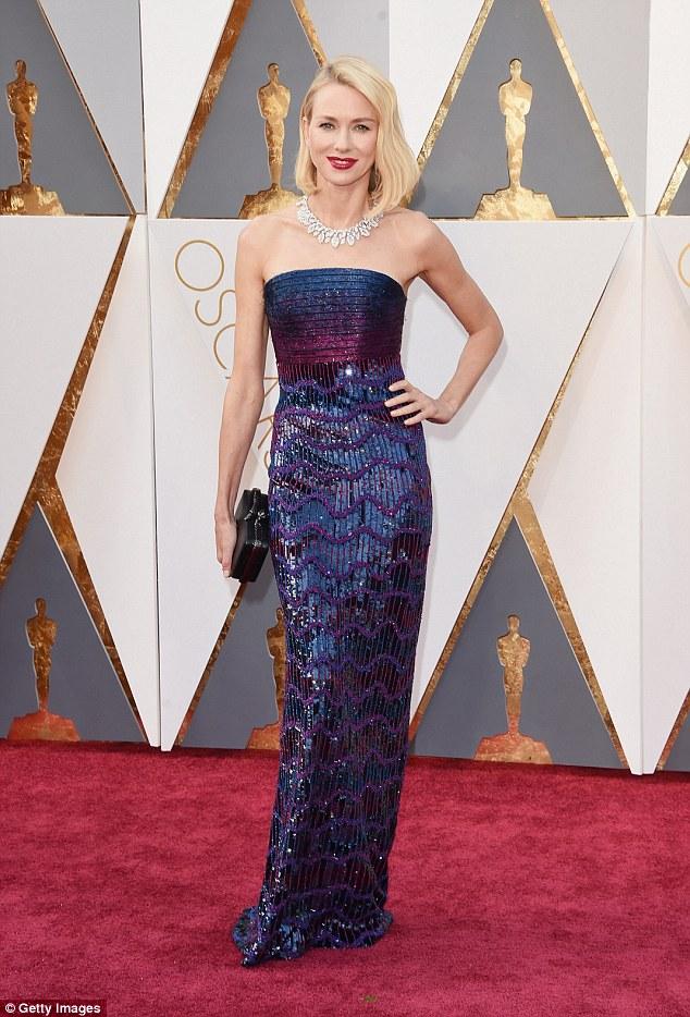 Naomi Watts - in Armani Prive - Oscars 2016