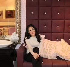 Tamara Al Gabbani after her pampering session at Glamour Beauty Salon Kuwait