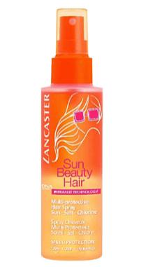 Lancaster Sun Beauty hair multi-protective hair spray
