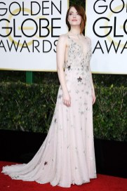 Emma Stone in Valentino Golden Globes 2017