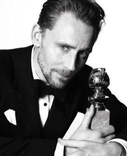 Tom Hiddleston Hugh Laurie - won Best Actor in a TV Series - Picture by Mert Alas & Mac Piggott - Golden Globes 2017