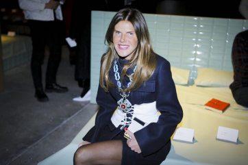 Anna Dello Russo - Front Row - Prada Menswear F/W 2017 Milan
