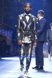 Tinie Tempah - Dolce & Gabbana Fall Winter 2017 - Milan