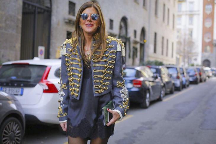 Anna Dello Russo - Dolce & Gabbana Fall Winter 2017 - Street style