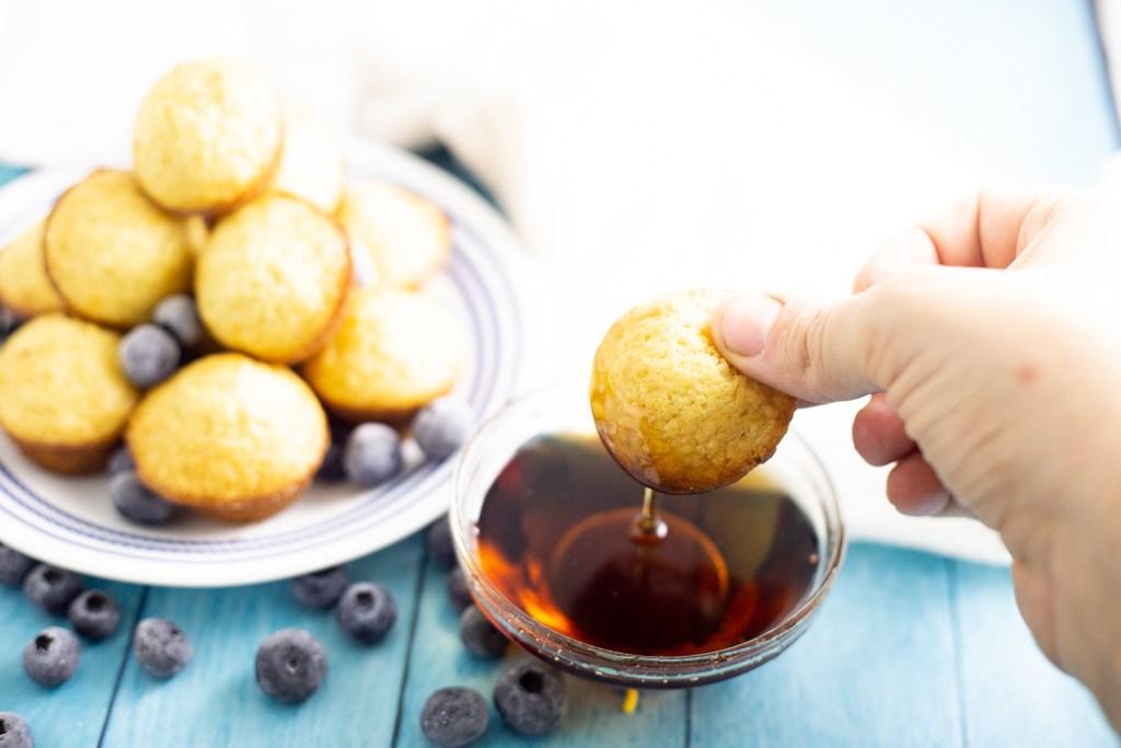 Blueberry Pancakes Mini Bites