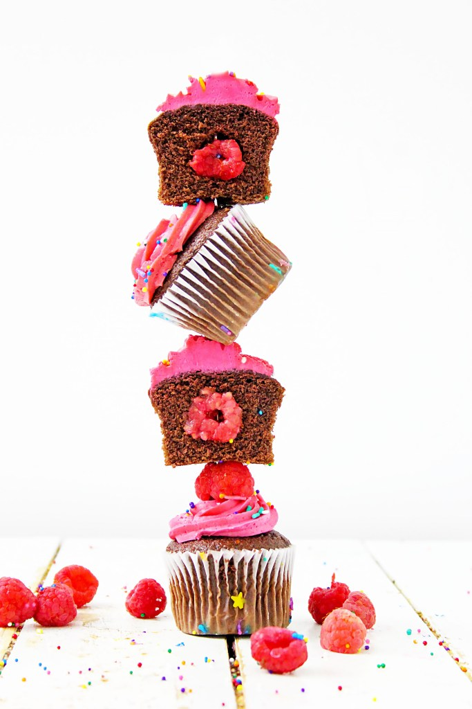stack of cupcakes