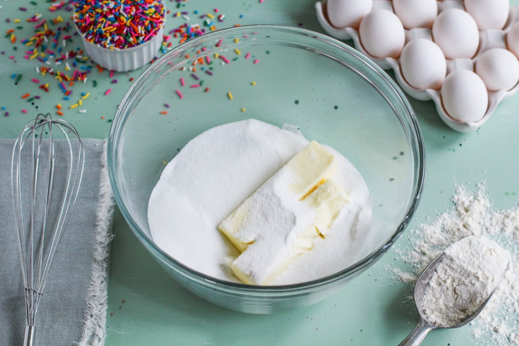 butter and flour for homemade cookies