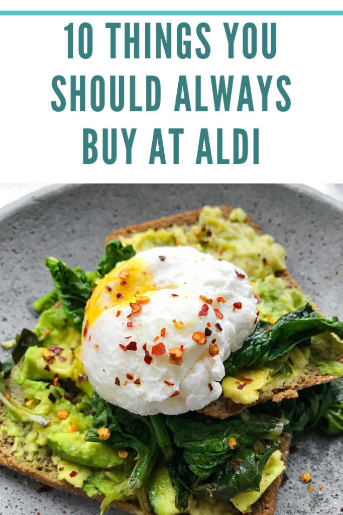 Do you shop at Aldi? If you've never been to one of the stores, you're missing out! Here are 10 items to buy at Aldi each time for the perfect grocery list!