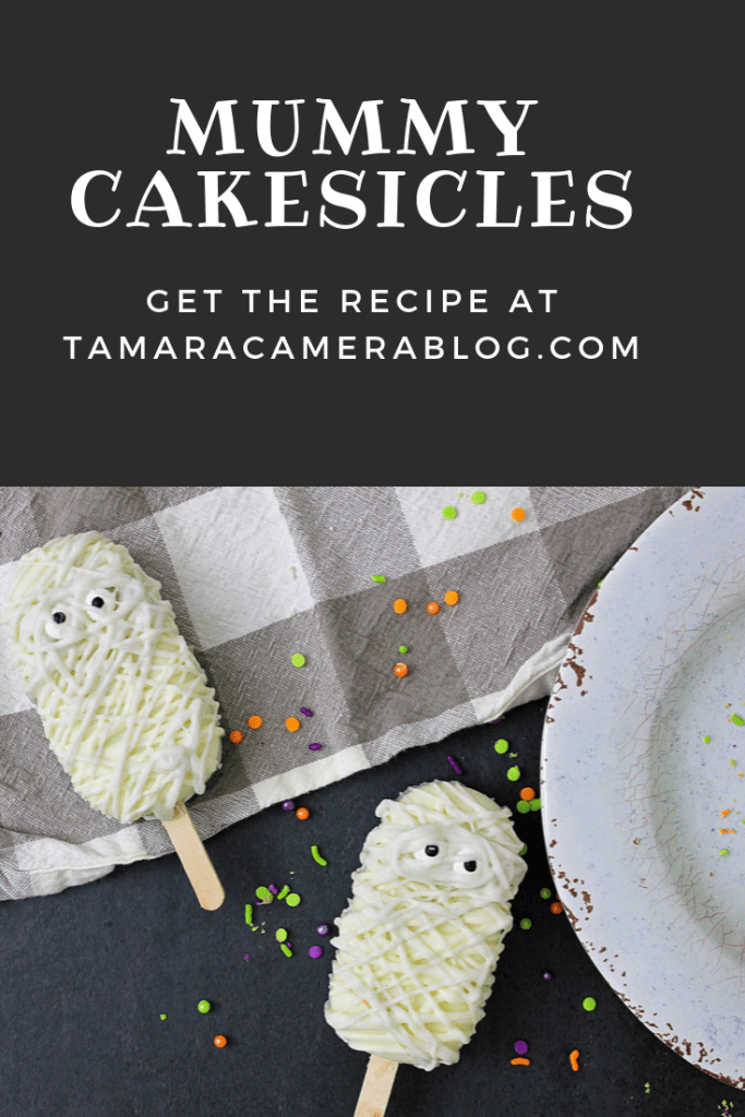 These Mummy Cakesicles are not only a fabulous idea for an awesome fall treat, they're really good too!  They're simply cake and frosting dipped in chocolate