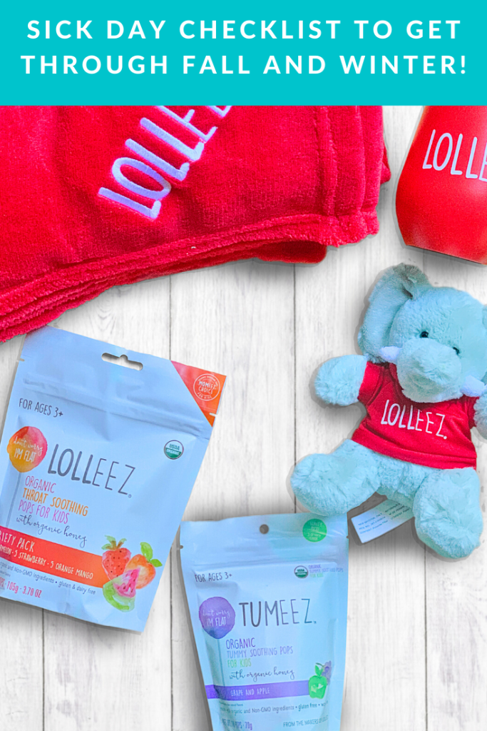 #ad Check out our Sick Day Checklist to have everything you need for the inevitable kid sick days this winter. Be prepared! #ColdSeasonDoesntSuckWithLolleez