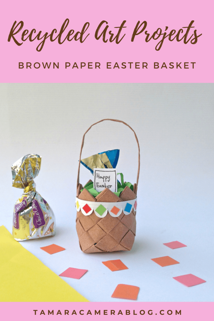 We love doing recycled art projects from materials found right at home. These Brown Paper Bag DIY Easter Treat Baskets are perfect for a kids Easter craft.