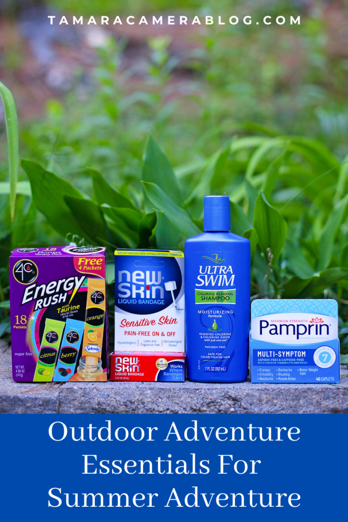 #ad These Outdoor Adventure Essentials are perfect and useful for planning new summer adventures with family and friends #ExploreOutdoorsBBxx #ApplySealHeal #Pamprin #4CFoods #4CEnergyStix @pamprinmaxstrength