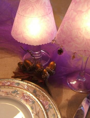 Wine Glass Lampshades