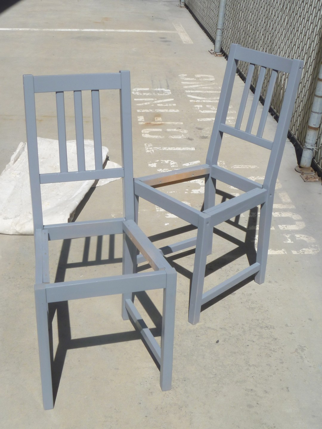 Primer coated chairs