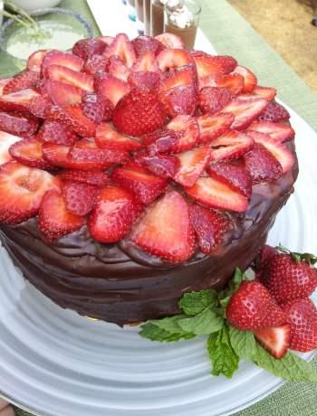 Strawberry Ganache Cake
