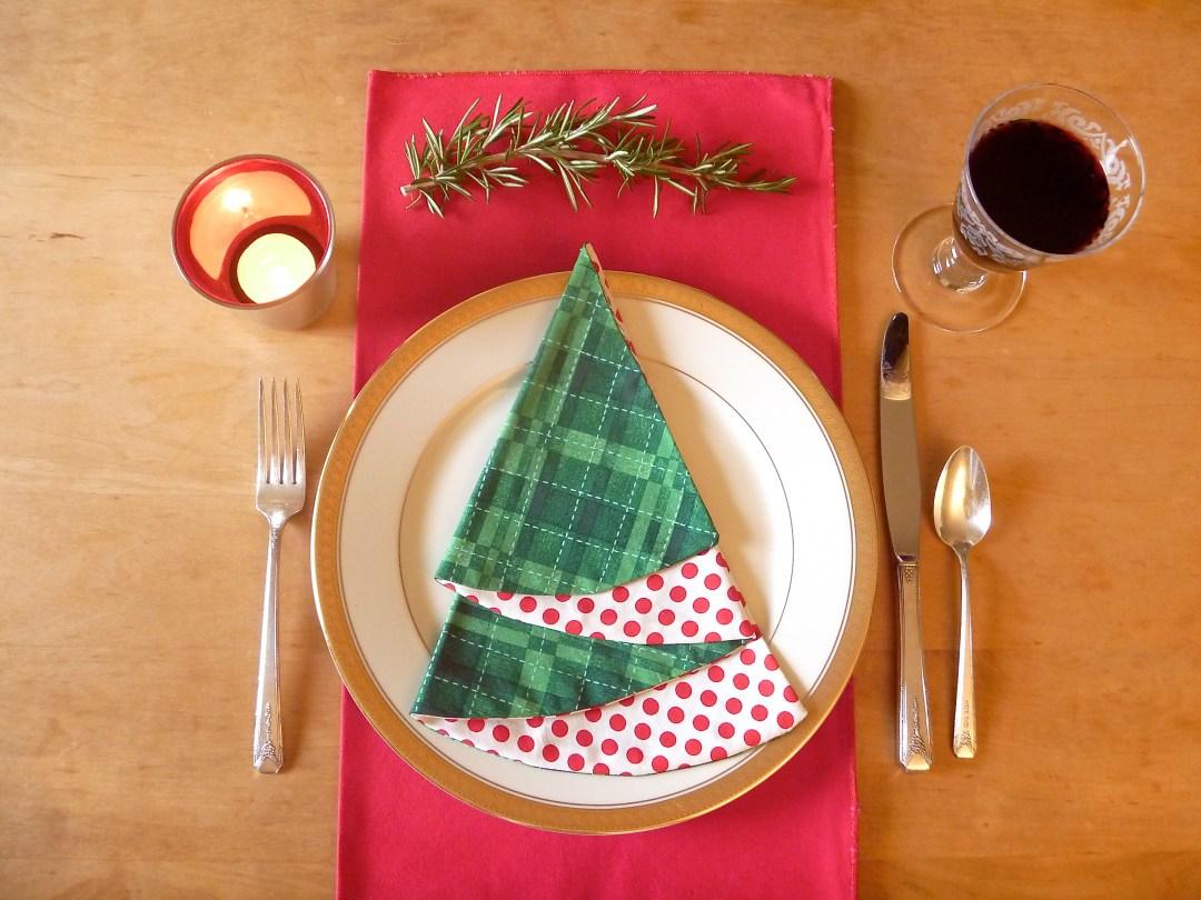 Easy Christmas Napkins