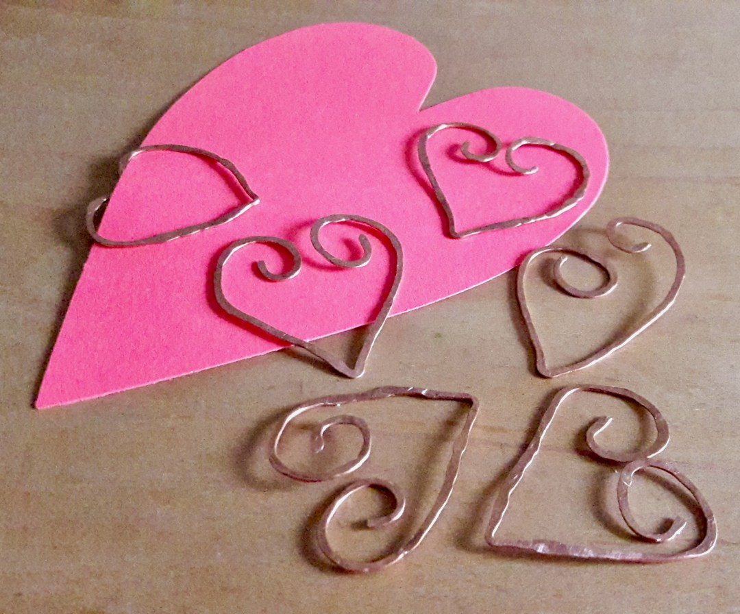 Valentine Copper Bookmarks