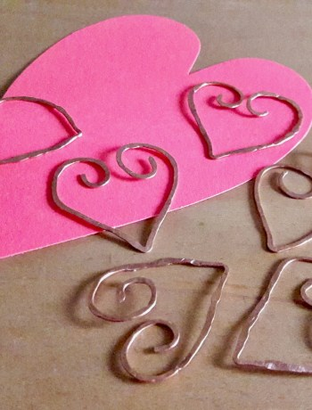Valentine Copper Bookmarks
