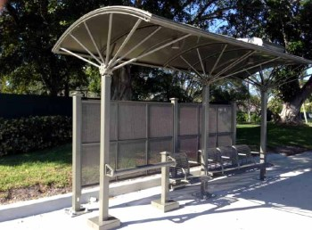 New bus shelters in Tamarac