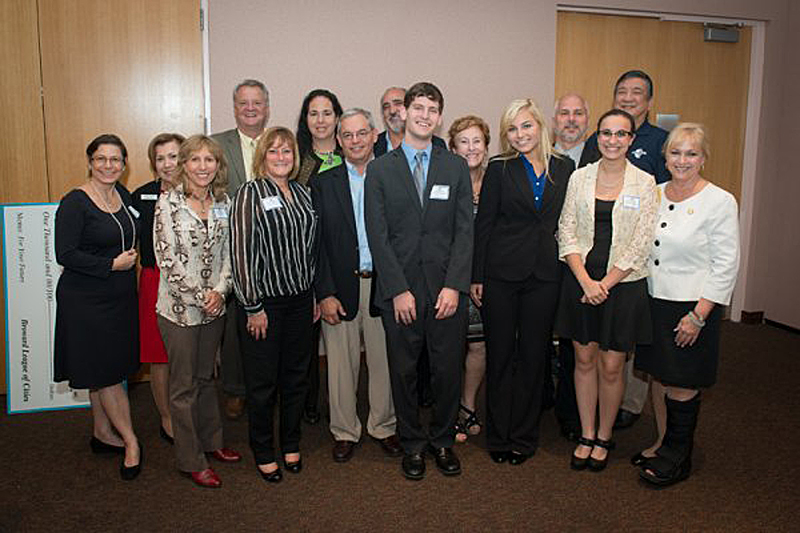 City  officials and recipients of scholarships in 2014 from the Broward League of Cities.