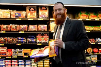 Rabbi Denburg is pleased with the selection of kosher foods offered