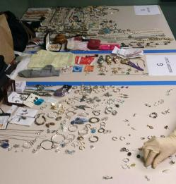 Stolen items found at suspects home