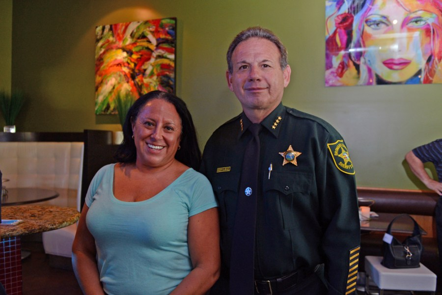 Campaign Manager Amy Rose with Sheriff Scott Israel