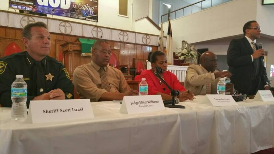 Sheriff Israel participated in a Crime in the Black Community Forum at Bethel AME Church in Pompano Beach. The panel discussed community partnerships and ways to foster better communication and action through the sharing of innovative ideas and prevention strategies. - Photo courtesy BSO.