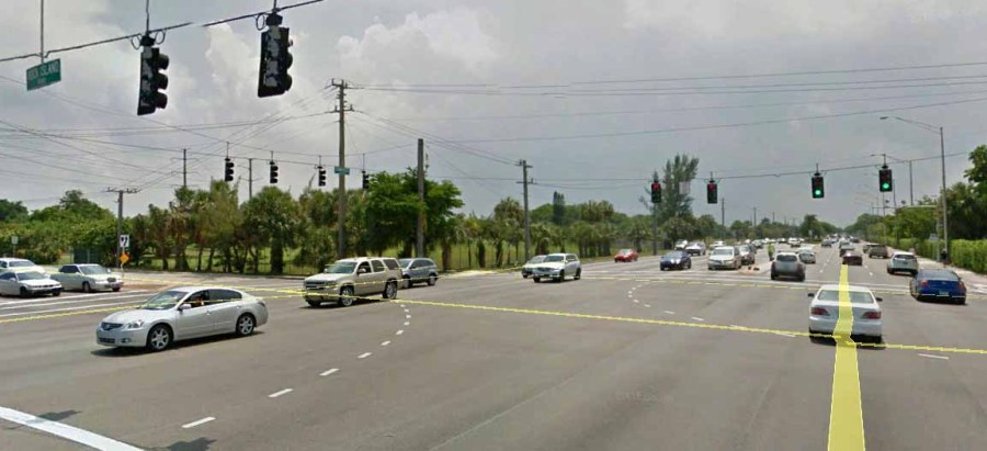 Traffic Lights will soon be secured on mast arms at the corner of Rock Island Road and Commercial Boulevard in Tamarac.