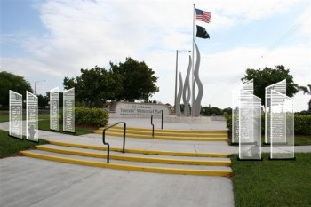 """Proposed """"Wall of Honor"""" project viewed during the day."""