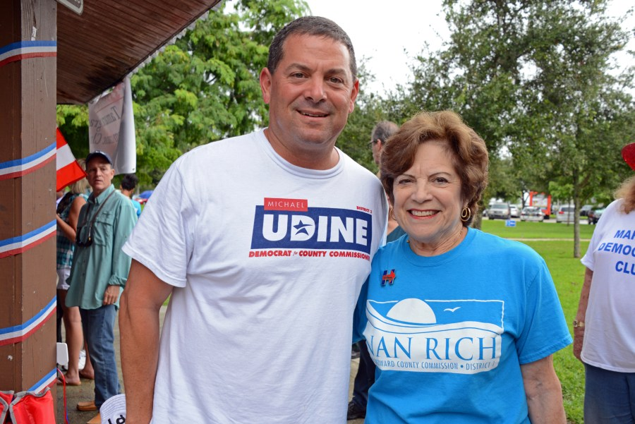 Parkland Mayor Michael Udine and newly elected Broward County Commissioner Nan Rich.