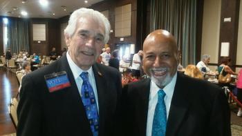 Candidate Gerald Heller and Congressman Alcee Hastings last week in Kings Point.