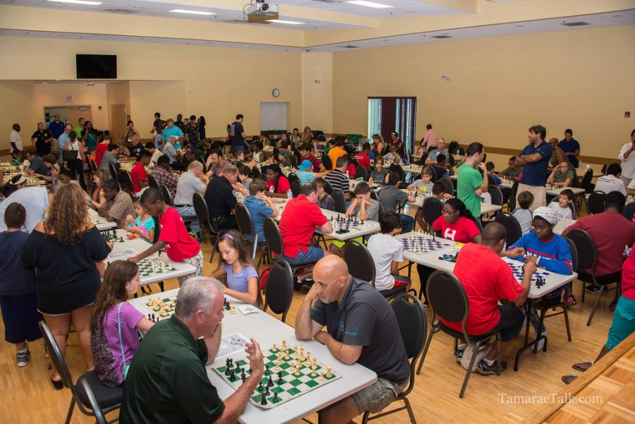 Hundreds attended last years Mayors Chess Challenge in Tamarac. Photo by Tamarac Talk.