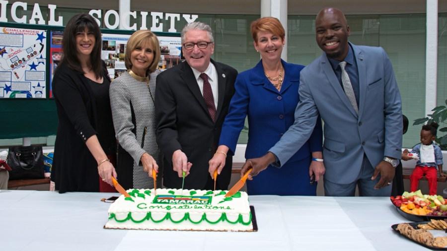 Commissioner Michelle Gomez, Vice Mayor Debra Placko, Mayor Harry Dressler and Commissioners Julie Fishman and Marlon Bolton. Photo by Tamarac Talk