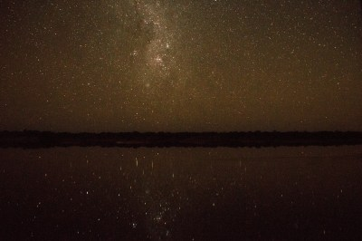 Midnight stars reflected