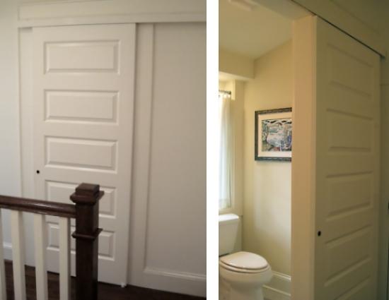 sliding pocket door bathroom In Praise of Pocket Doors and Barn-style Sliders | Tamara Heather Interior Design