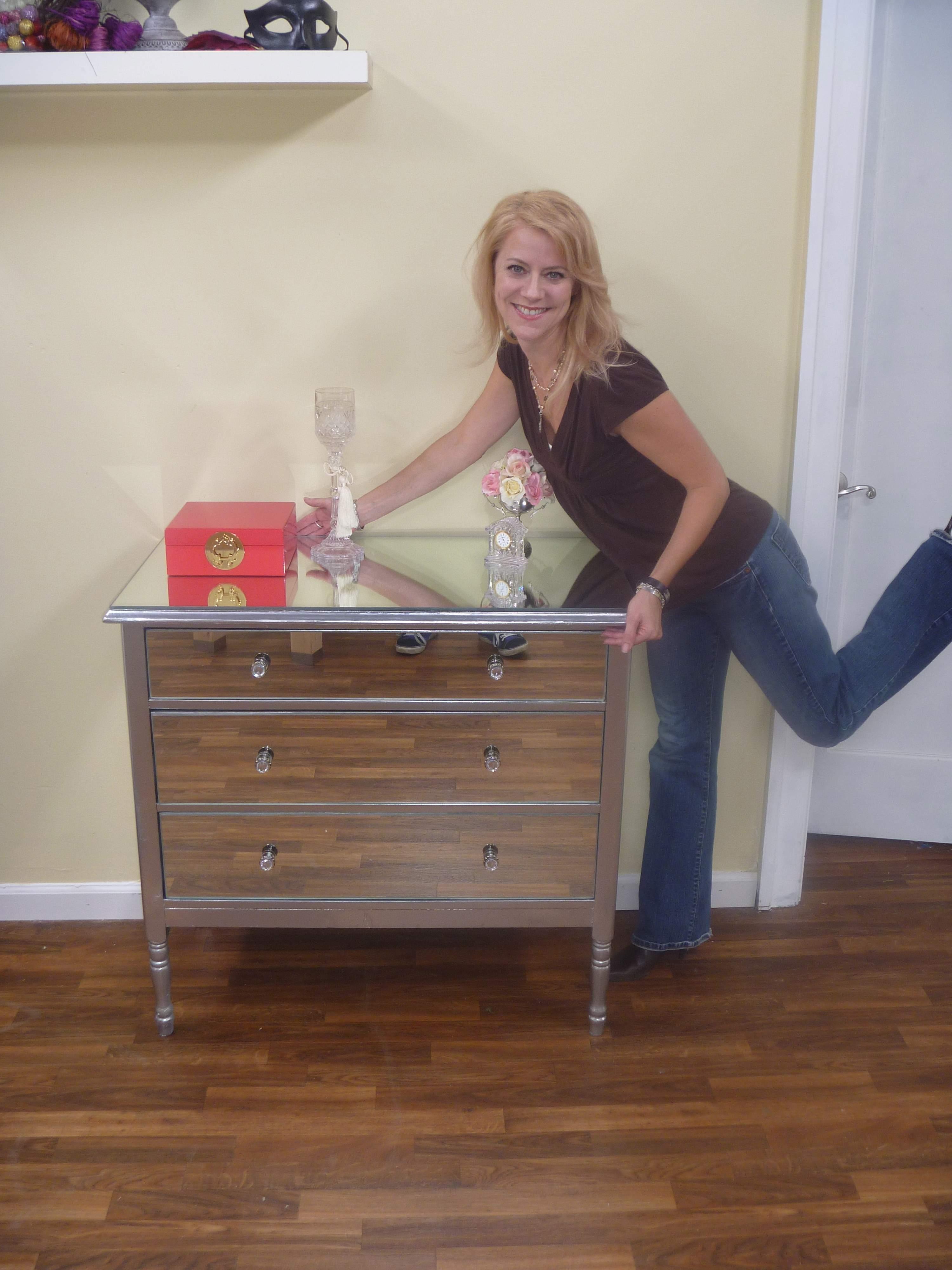 DIY Mirrored Dresser  The Tamara Blog