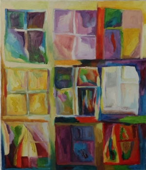 The windows. oil on canvas. 50X60 cm