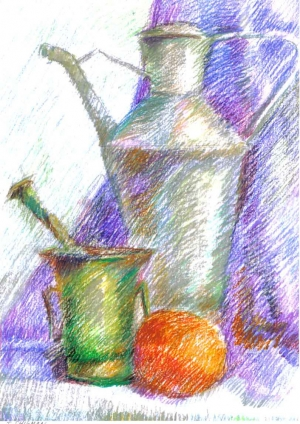 Still life pastel