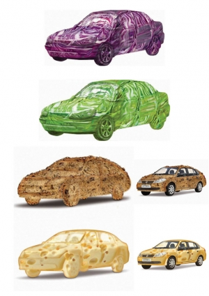 Super sal car cabbage bread