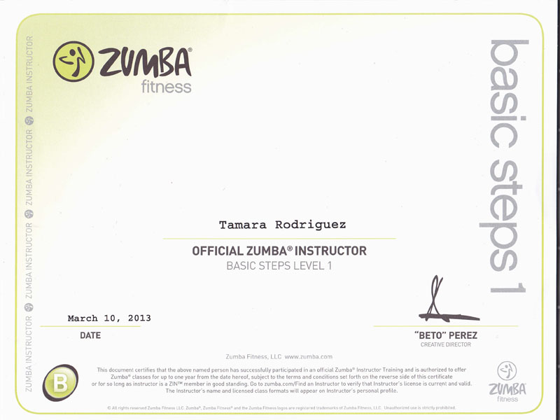 Tamara Yoga Zumba Instructor Tamara Rodriguez Mehl