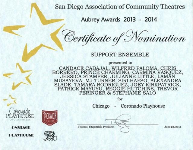 Tamara-Rodriguez-Mehl_2013-2014-Aubrey-Award_Chicago-Musical_Coronado-Playhouse_San-Diego-CA_02