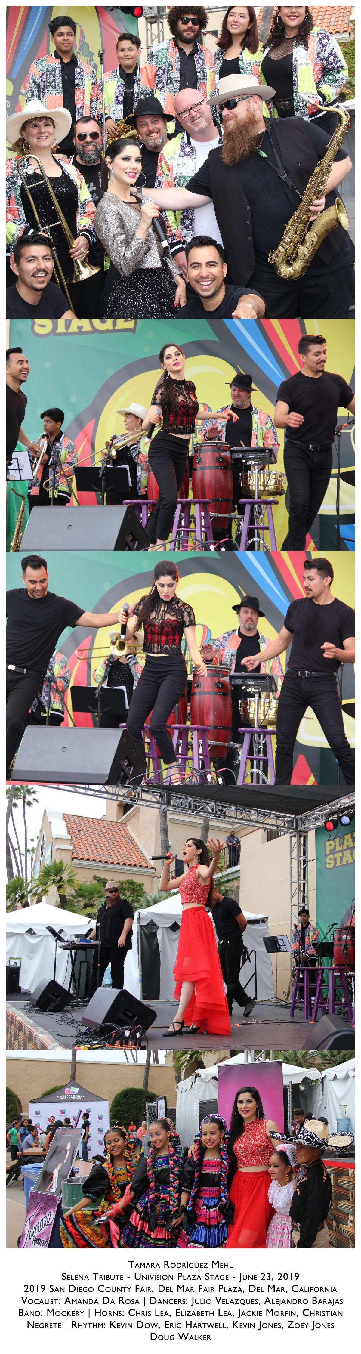 Tamara : Selena Tribute : Univision Plaza Stage : 2019 San Diego County Fair : Del Mar Fair ...