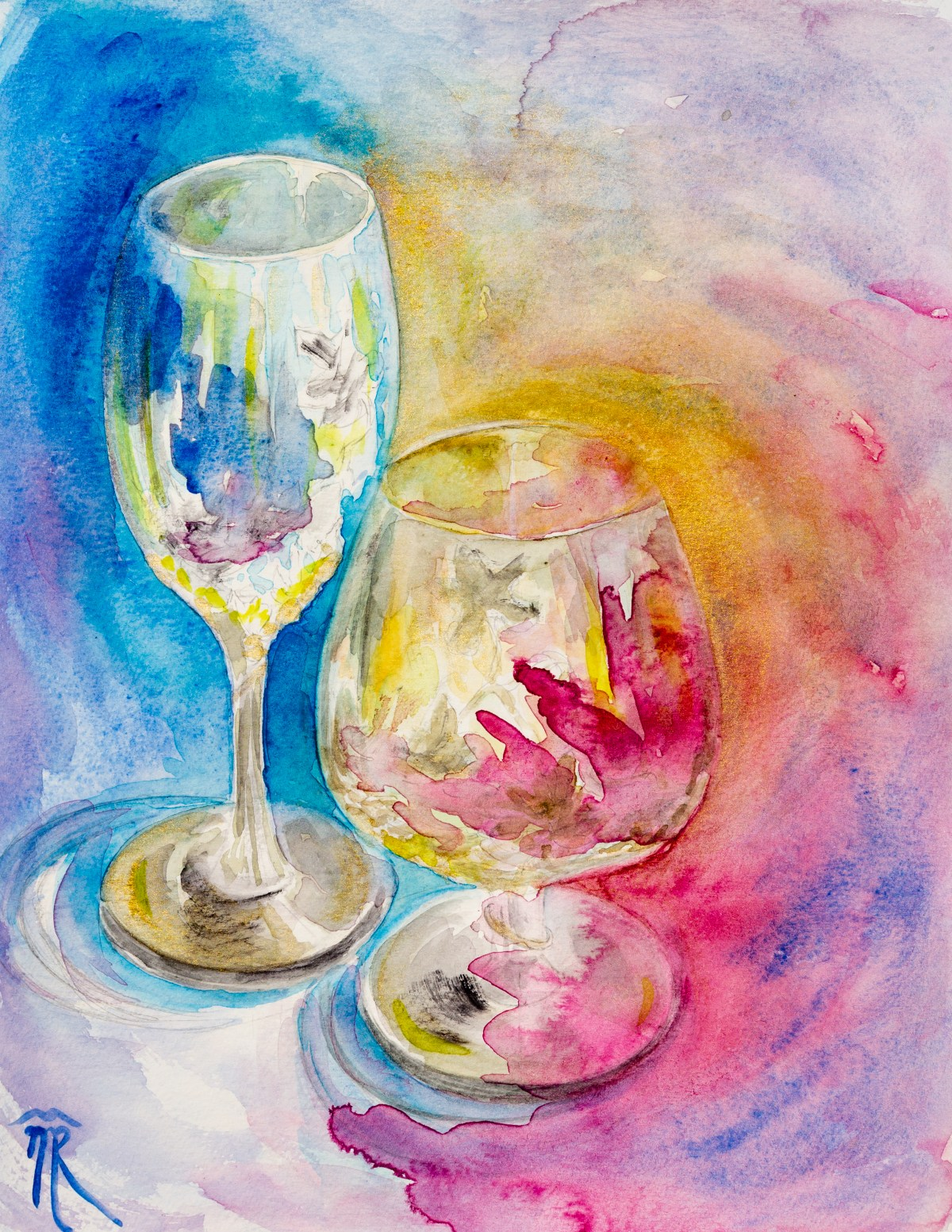 Glasses 3, watercolor, 2018