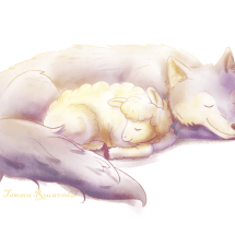 Wolf and little lamb_c