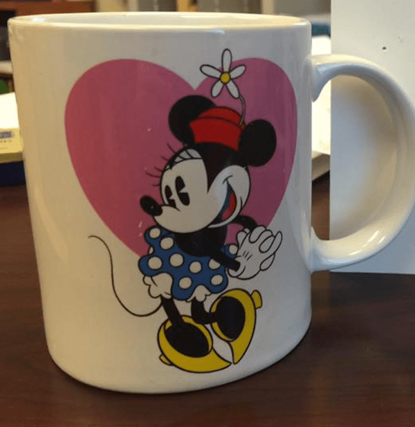 2012 Minnie Mouse Mug: 108,300 ppm Lead + 28,600 ppm Arsenic