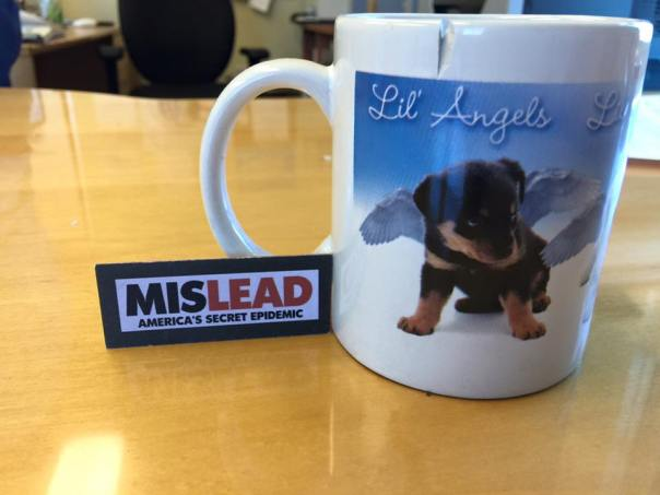 Photo Mug with Puppies: 256,000 ppm Lead + 71,200 ppm Arsenic