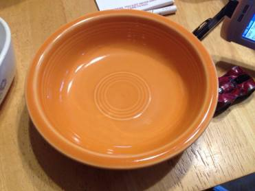 Orange Fiestaware Bowl Positive for 227 ppm cadmium